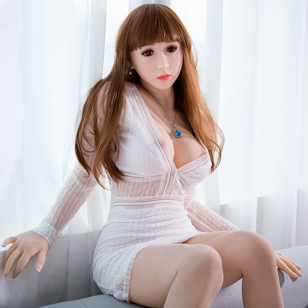 Full Silicone Love Doll Sex Doll with Skeleton Oral Adult Doll with Vagina Anal Boobs Real Pussy Sex Toys 156cm