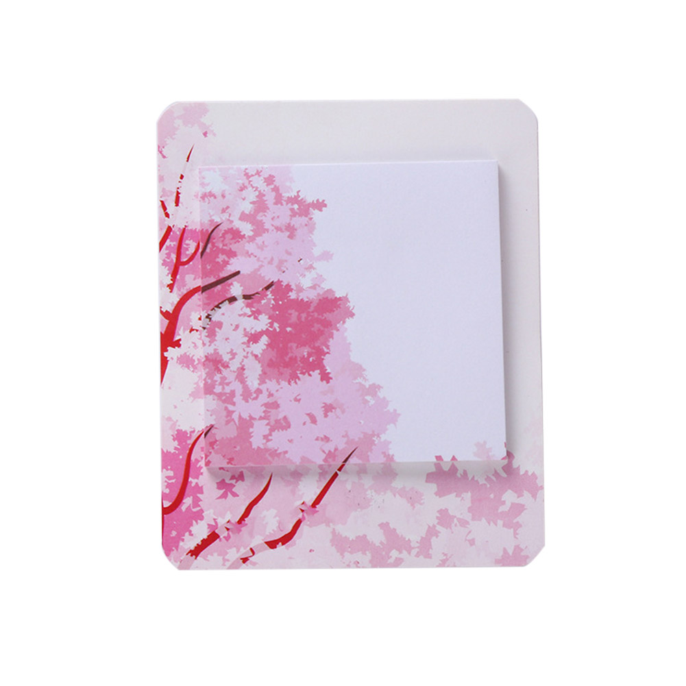 Romantic Cherry Pattern Printing Sticky Note L 124 Manshan Cherry Blossom