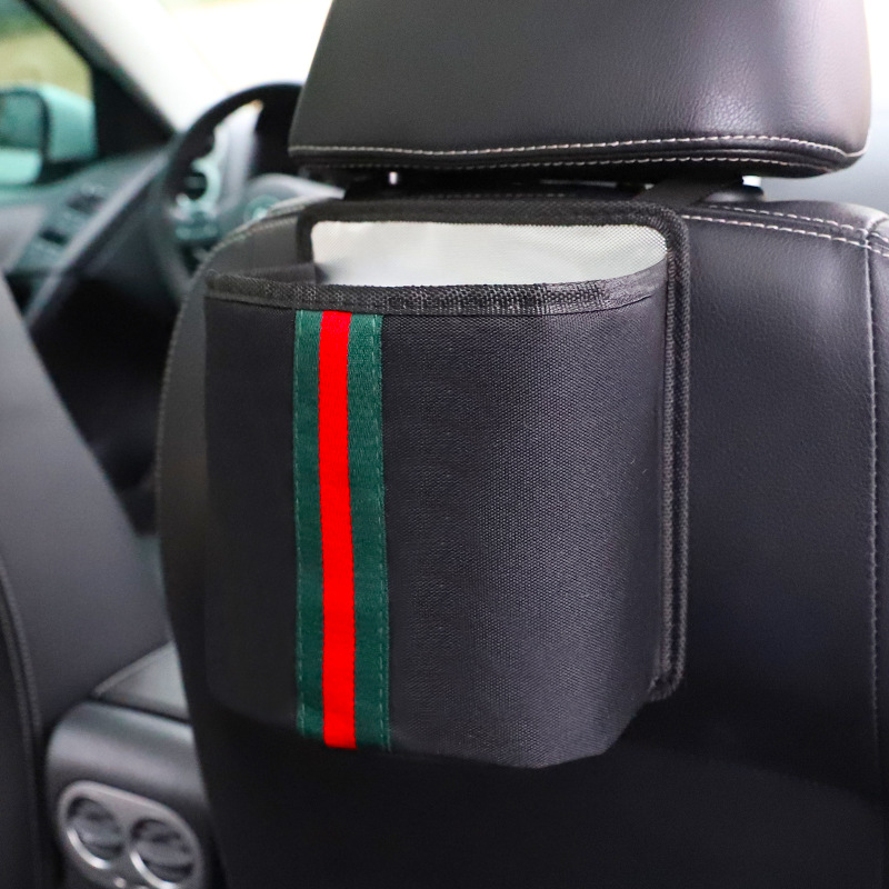 Green strip Storage Pouch Seat Back Pocket