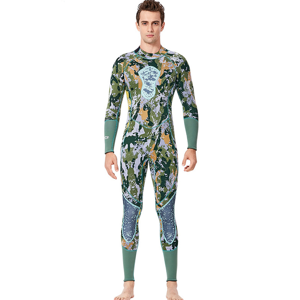 Fish Hunting  Suit 3MM Siamese Camouflage Female Warm Surfing Swimwear
