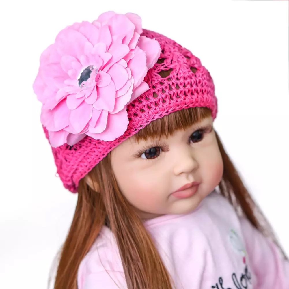 60cm Reborn Girl Baby Doll Silicone Princess Child Toy for Birthday Gift As shown