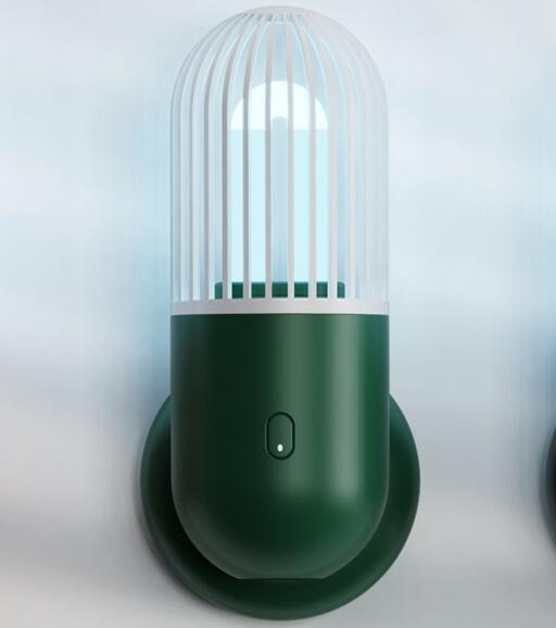Capsule UV Disinfection Lamp with Ozone Sterilization Can Be Regularly Disinfected for Bedroom Dark green-with ozone