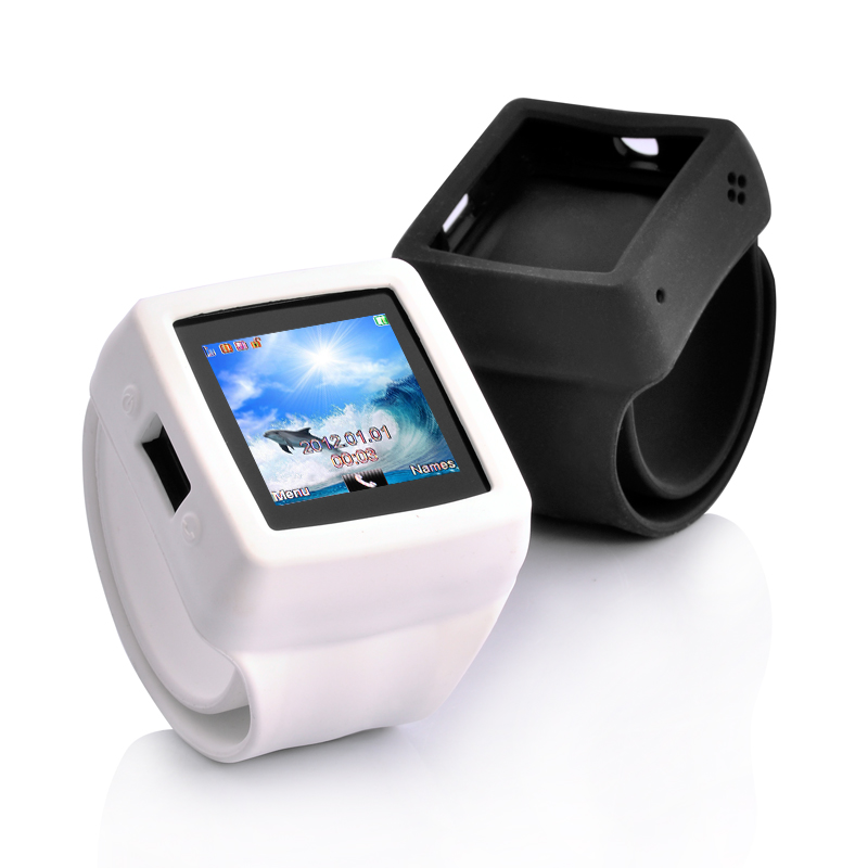 Cell Phone Watch w/ Change Straps - Slap-On
