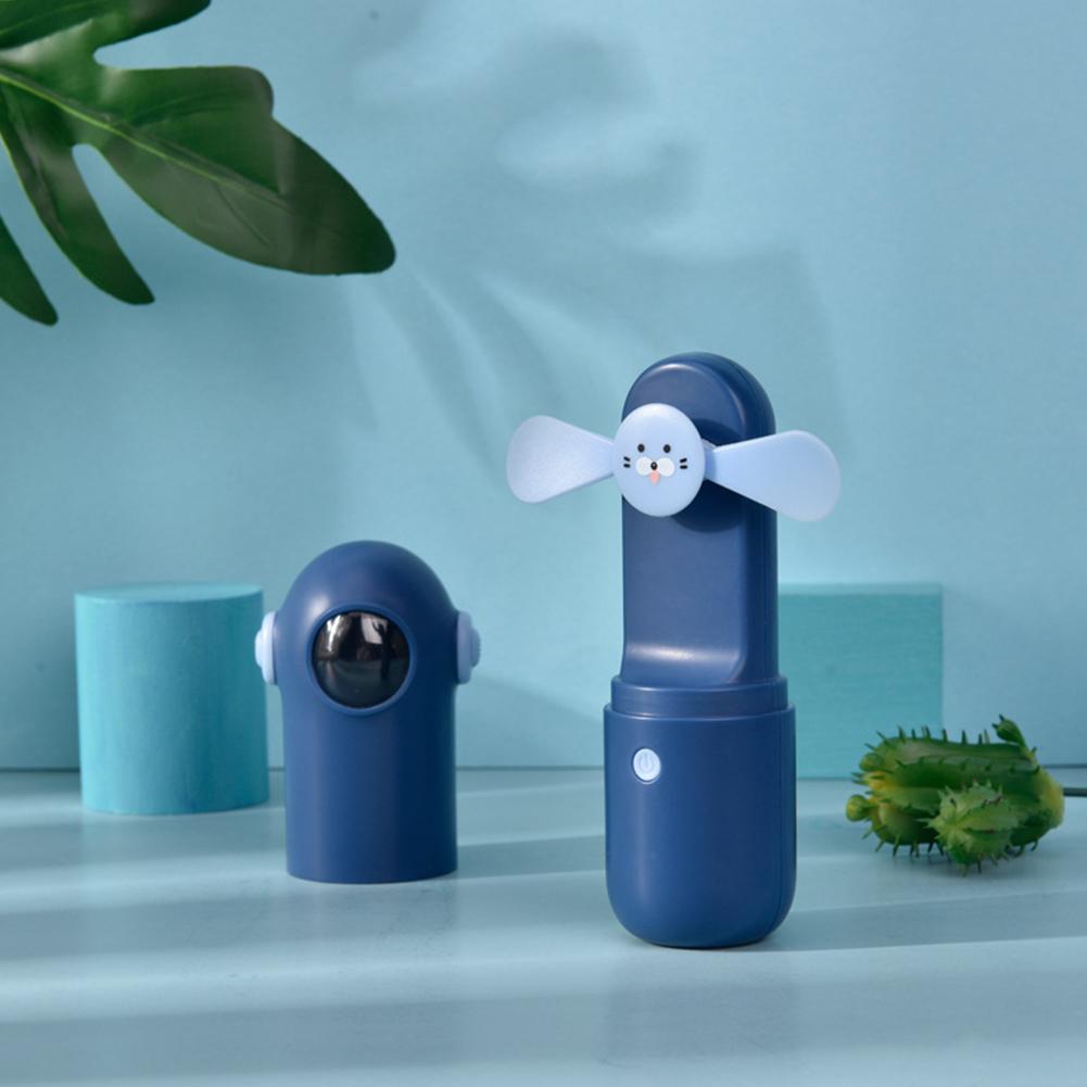 Usb Mini Handheld Fans Electric Portable Small Astronaut Shape Fan for Outdoor blue_astronaut