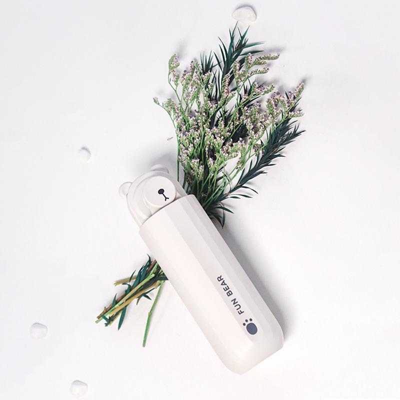 USB Rechargeable Portable Cartoon Fan Handheld Mini Telescopic Fan white_36*44*128mm