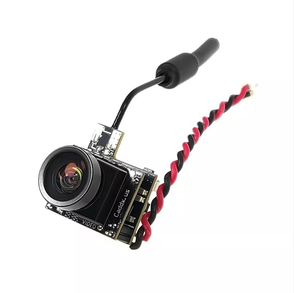 Caddx Beetle V1 5.8Ghz 48CH 25mW CMOS 800TVL 170 Degree Mini FPV Camera AIO LED Light for RC Drone NTSC 4:3