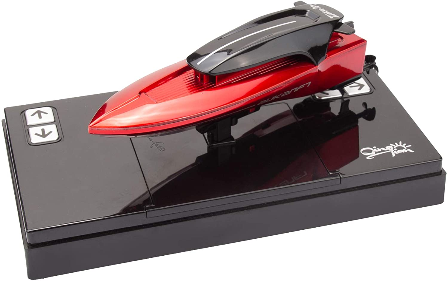 Mini RC Boat Remote Control Toys for Kids Pool or Lake Child Protection Function 888C red