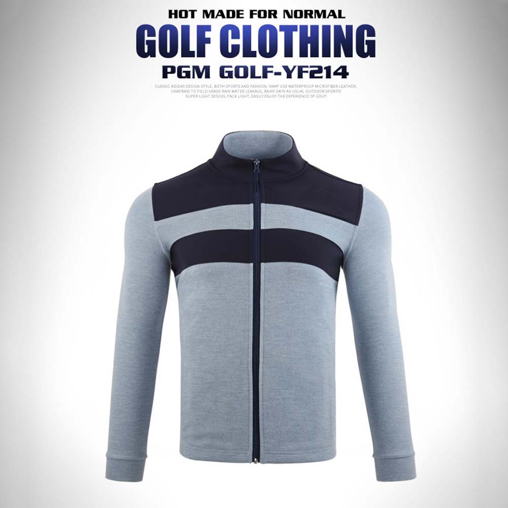 Golf Clothes Autumn Winter Long Sleeve Jacket Warm Knitted Clothes Yf214 light blue_M