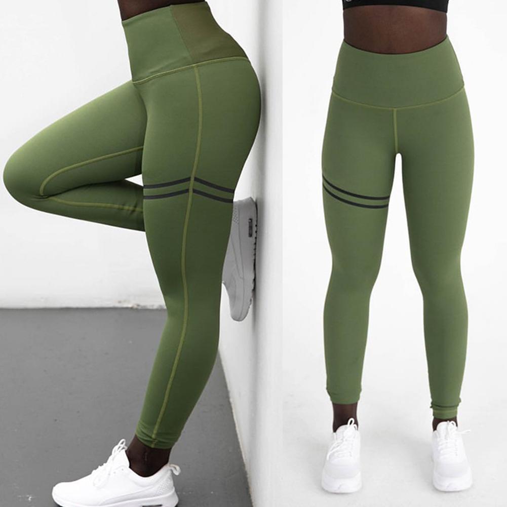 Women Fashion Simple High Waist Sports Yoga Pants Leggings