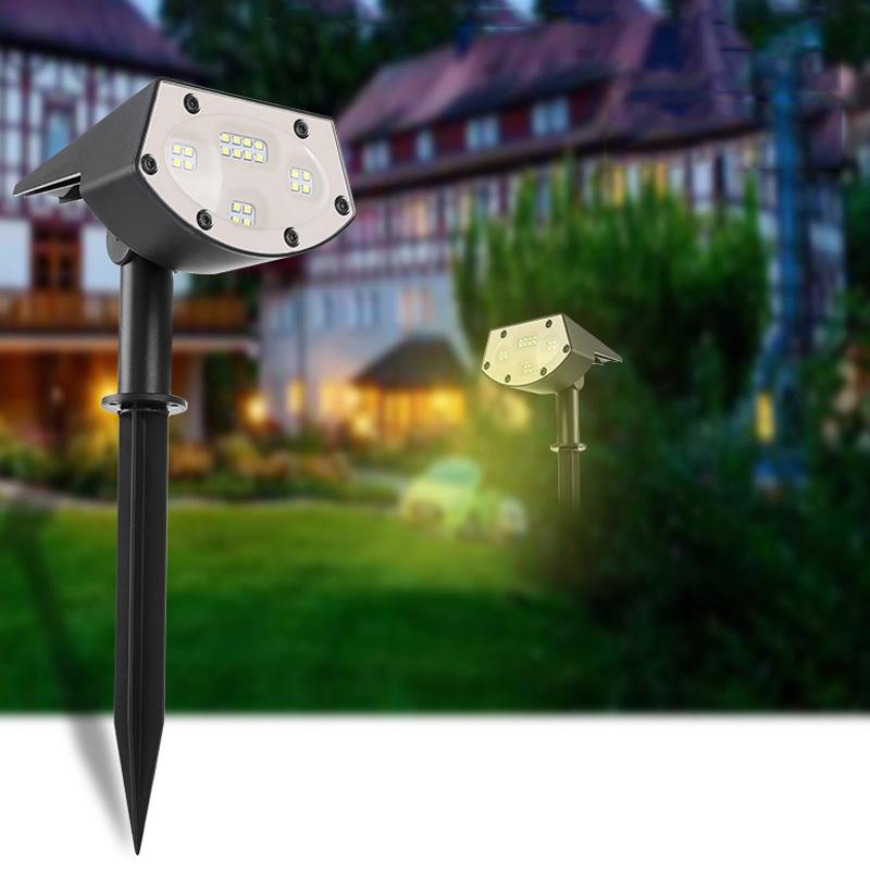 Waterproof Solar Lawn Light Outdoor Garden Landscape Control Induction 20LED warm light