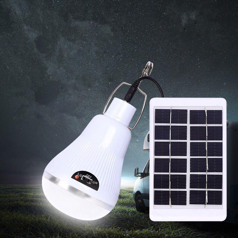 LED Solar Powered Portable Lamp Led Bulb Light Emergency White light