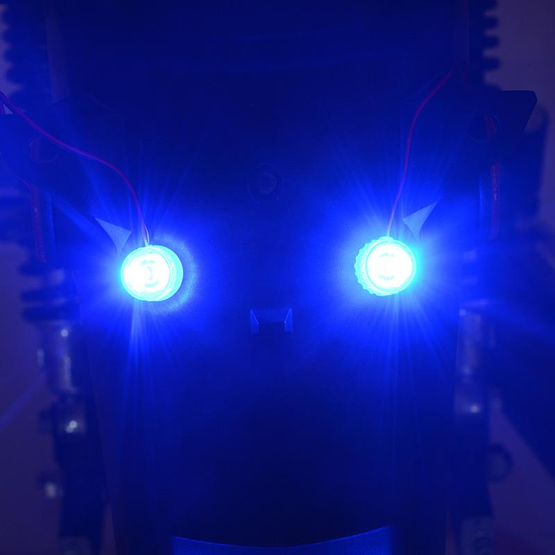 12-85v Led Running Lights Motorcycle Electric Car Flashing Lights Double Color Brake Rear Lamp Flashing Light Constant Light blue + flashing