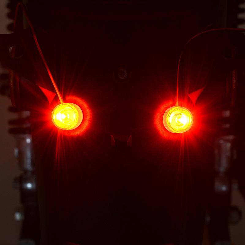 12-85v Led Running Lights Motorcycle Electric Car Flashing Lights Double Color Brake Rear Lamp Flashing Light Constant Light red + flashing