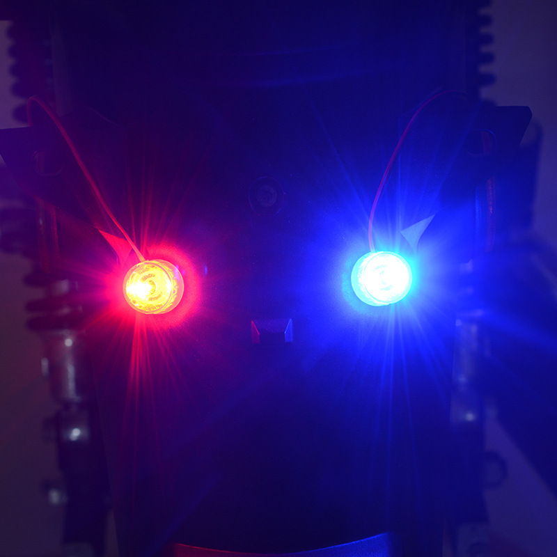 12-85v Led Running Lights Motorcycle Electric Car Flashing Lights Double Color Brake Rear Lamp Flashing Light Constant Light Red and blue + flashing