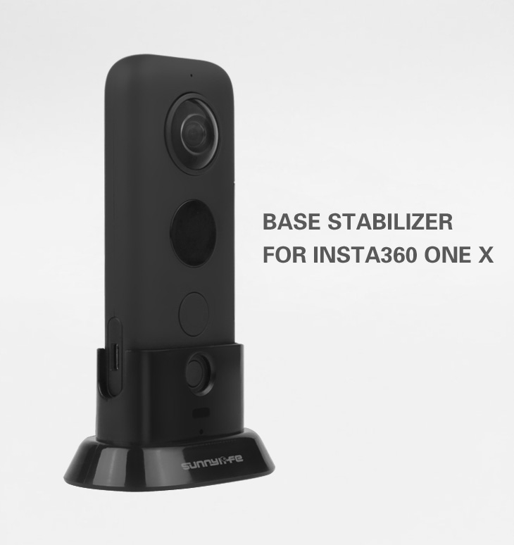 For Insta360 One X Stand Stabilizer Sports Camera Accessories Base for Instability 360 One X black