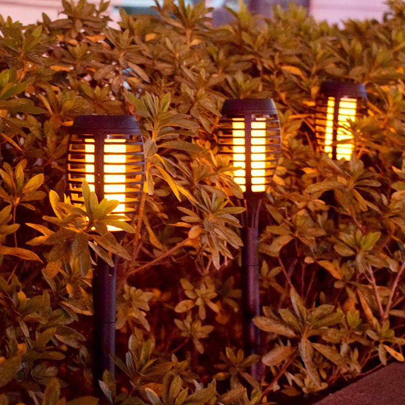 2Pcs LED Solar Flame Lamp Waterproof for Garden Landscape Decor Landscape Lights Solar small torch light