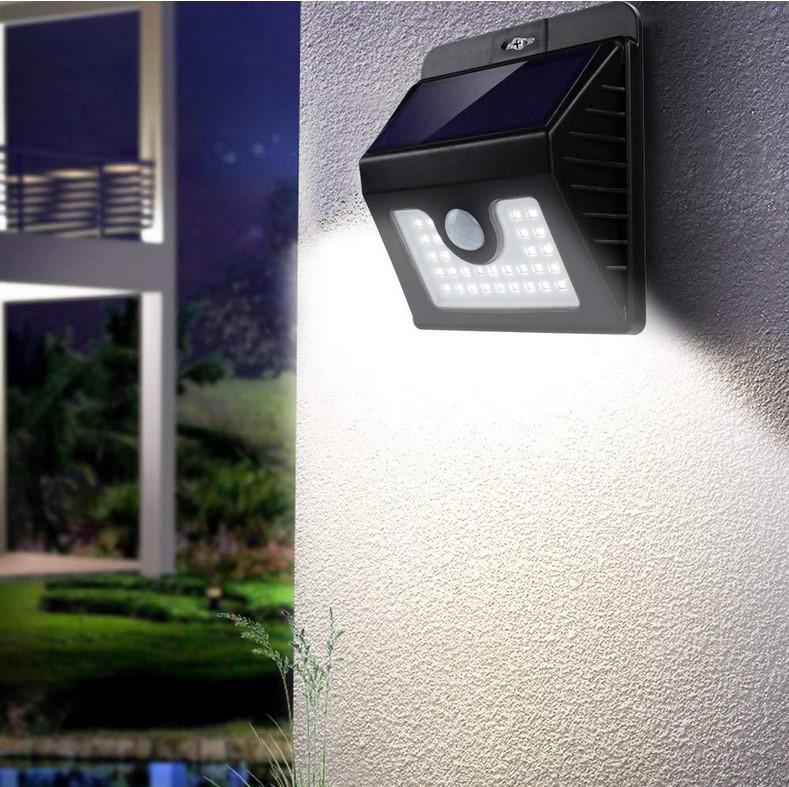 30 LED Solar Power Light Human Body Sensor Solar Wall Lamp Garden Decoration Outdoor Solar Lamps Solar panel