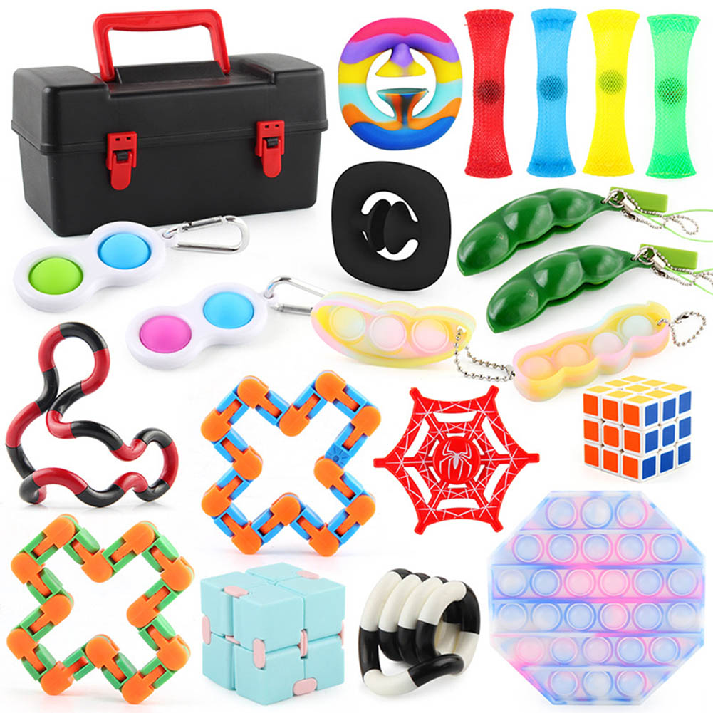 20  Pics/set  Magic  Cube  Puzzle  Decompression  Toy Anti-anxiety Easy Turning Smooth Magic Cube Toys Boxed