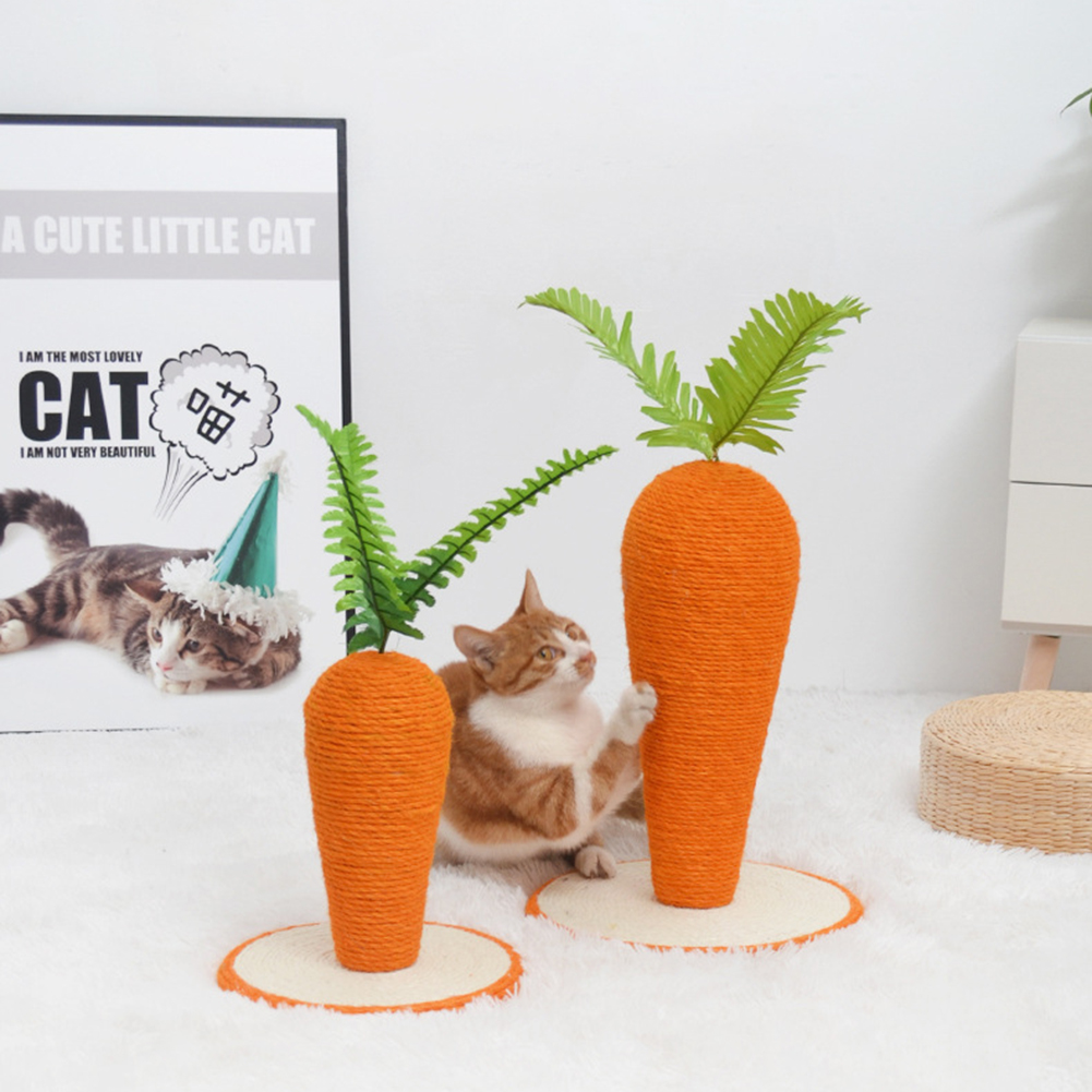 Sisal Climbing  Frame Two-color   Rope Carrot Shape Cat Toy Pet Supplies Two-color sisal carrot_30*30*43 large