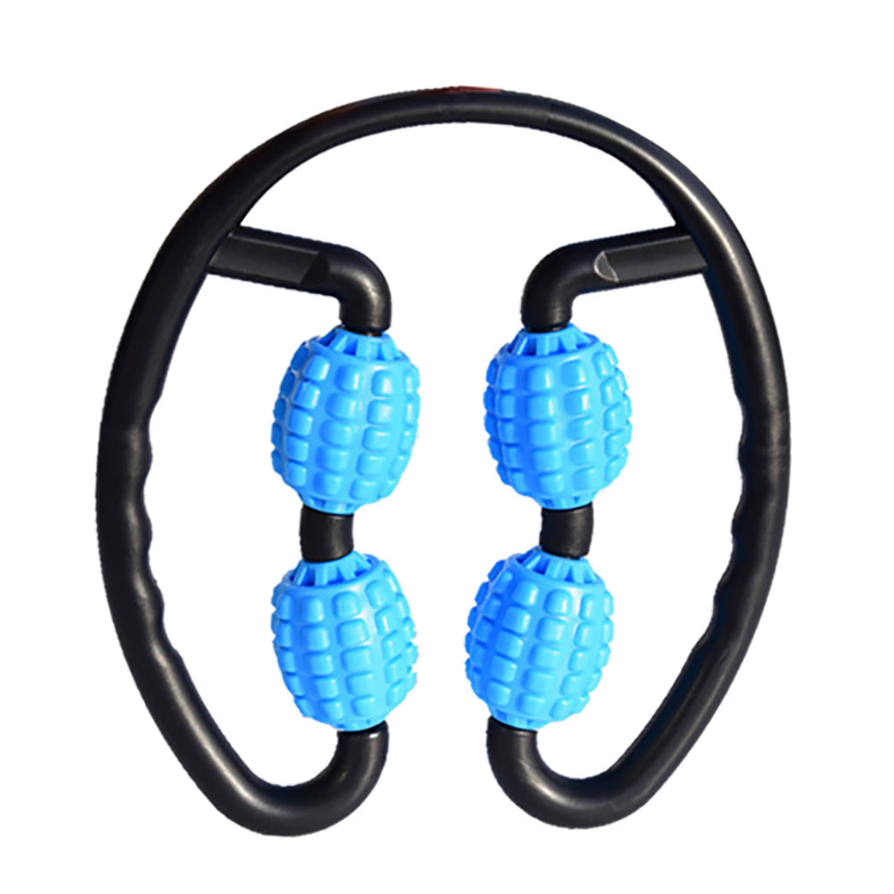 Foam Muscle Roller Massager Leg Neck Hand Arm Muscle Relax Massager Indoor Sports Yoga Bodybuilding Equipment  blue
