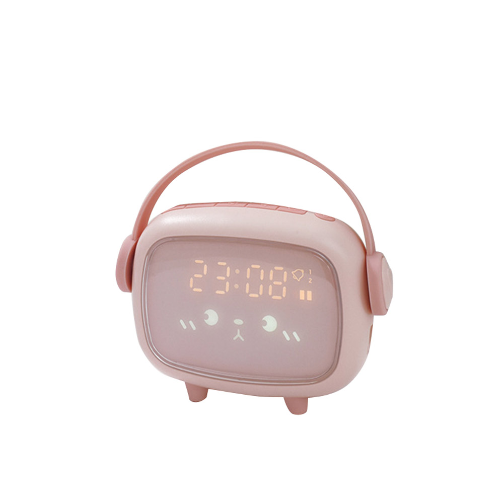 Led Alarm  Clock Charging Clock Multi-function Led Night Light Digital Alarm Clock Ordinary Style-Pink