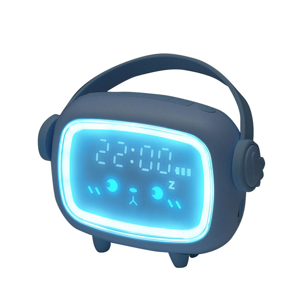 Led Alarm  Clock Charging Clock Multi-function Led Night Light Digital Alarm Clock Ordinary-light blue