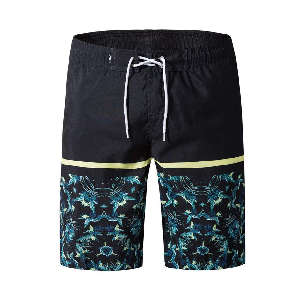 Men Fashion Casual Beach Surf Shorts Quick-drying Shorts black_M