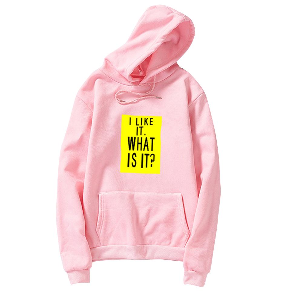 Couple Fleece Loose Thickened Long Sleeve Pocket Sweatshirts Hoody Pink_2XL