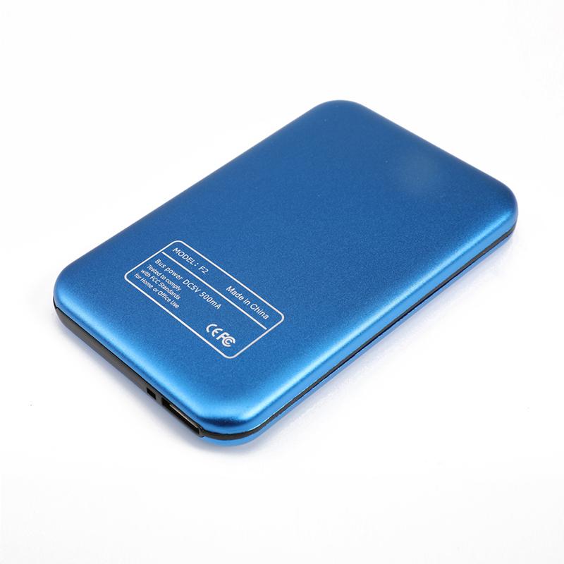 Aluminum Alloy USB 3.0 to SATA External Hard Drive Disk Enclosure 500G 1T 2T for EXFAT WIN Stystem blue