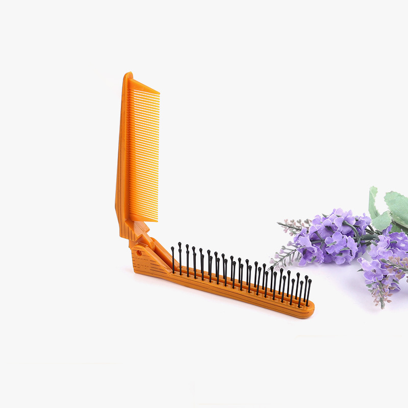 Pocket Folding Hair Brush Comb Portable Collapsible Travel Scalp Massage Plastic Comb Hairdressing Tool