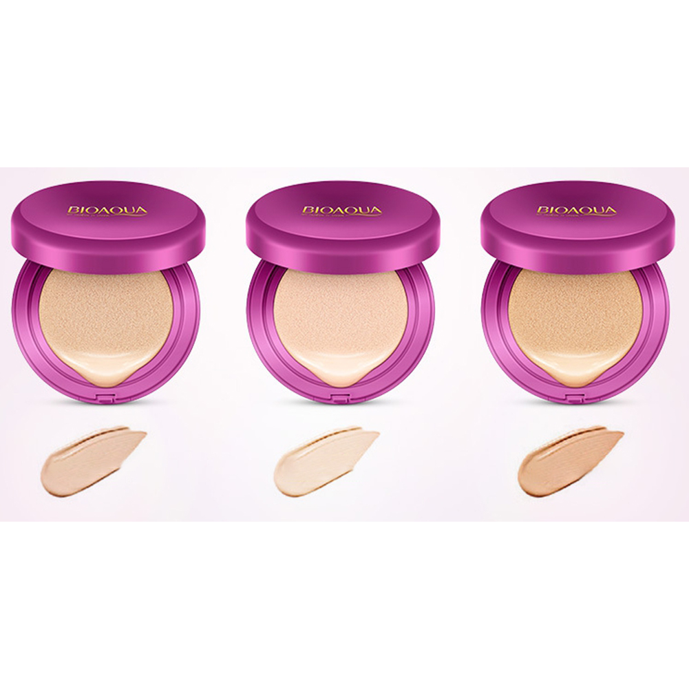 BB Air Cushion Foundation Natural Hydrating Medium Cover Long Lasting Concealer Natural color 15g+15g