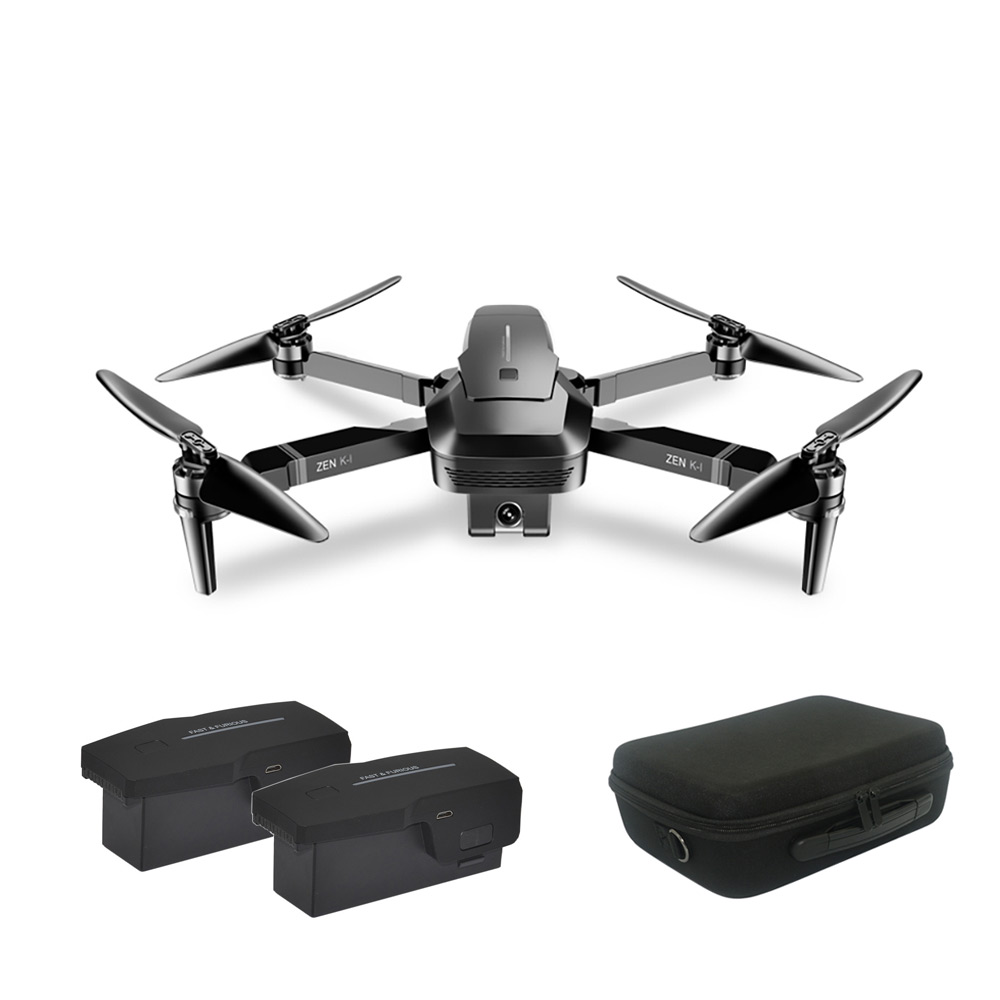 VISUO ZEN K1 Brush-less Dual Camera Optical Flow HD Zoom 4K Drone Folding Aerial Camera Quadcopter with Storage Bag Double battery