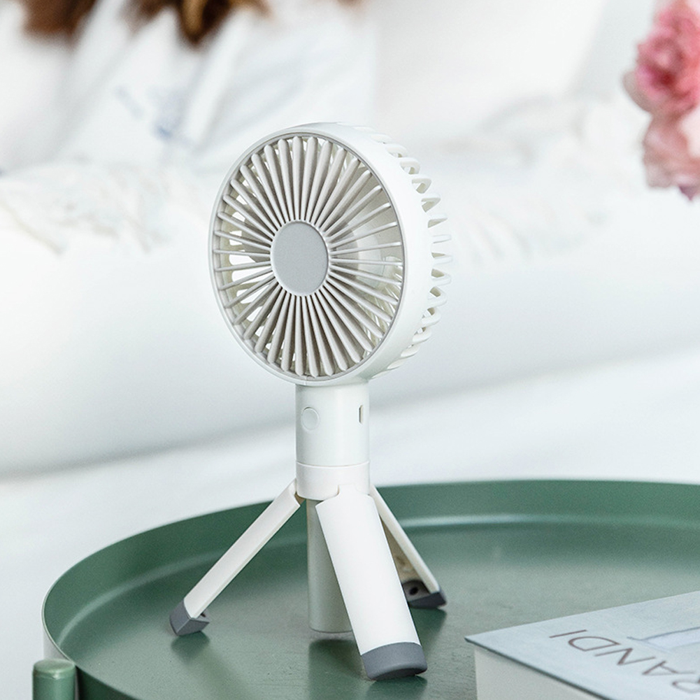 Portable Handheld Fan 3 Modes Adjustable Rechargeable Fan for Outdoor Home white_106x228x40mm