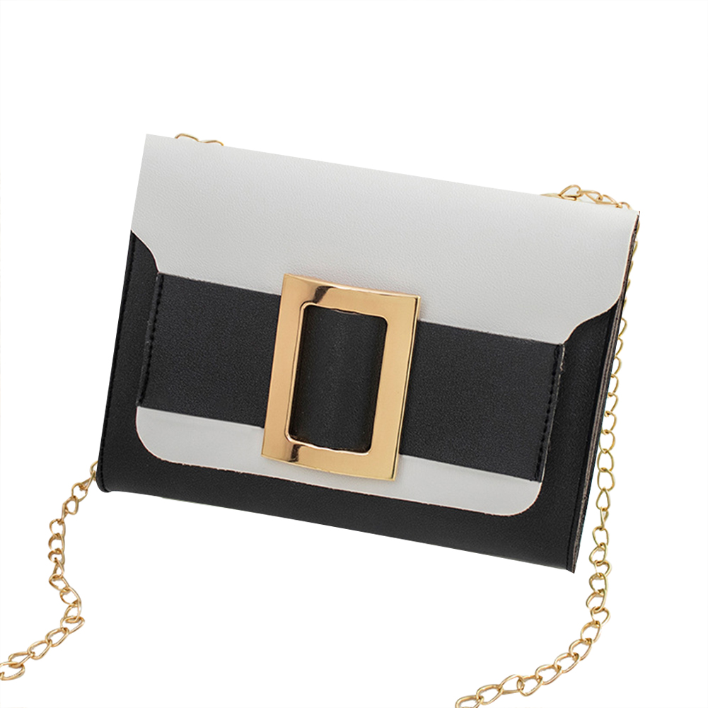 Female Fashion Color-matching Satchel Sweet Casual for Phone Card Organize black