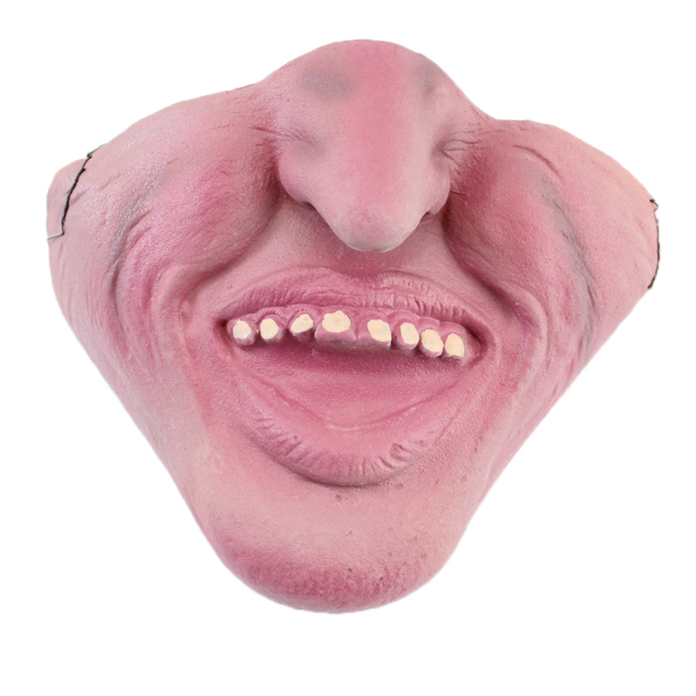 Unisex Funny Latex Mask Half Face Mask for Halloween Festival Cosplay Party GY-06