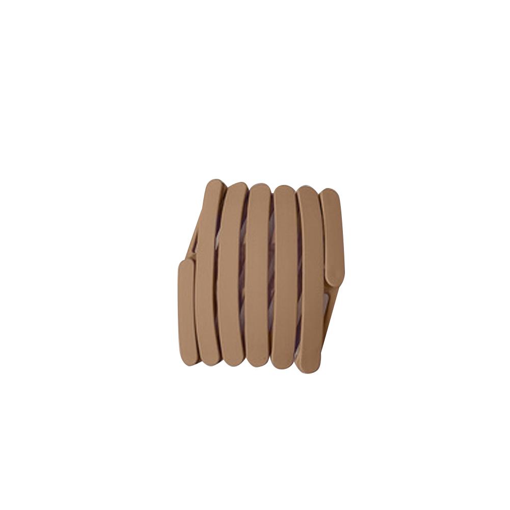 Retractable  Headbands Simple Versatile Non-slip Pressure Hair Headband Portable Hairpin Headwear 4#Khaki