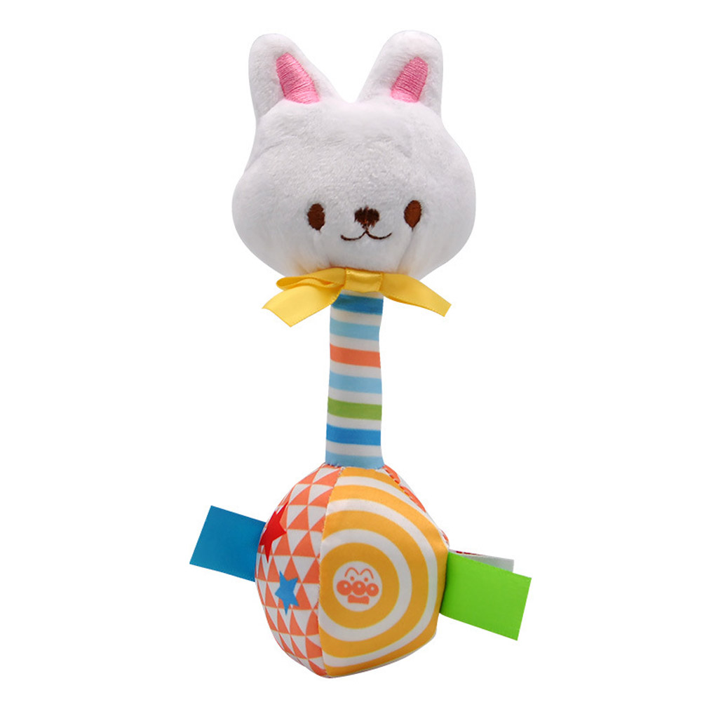Baby Rattles BB Sticks Plush Doll Crib Bed Hanging Toy for Kids Newborn White rabbit
