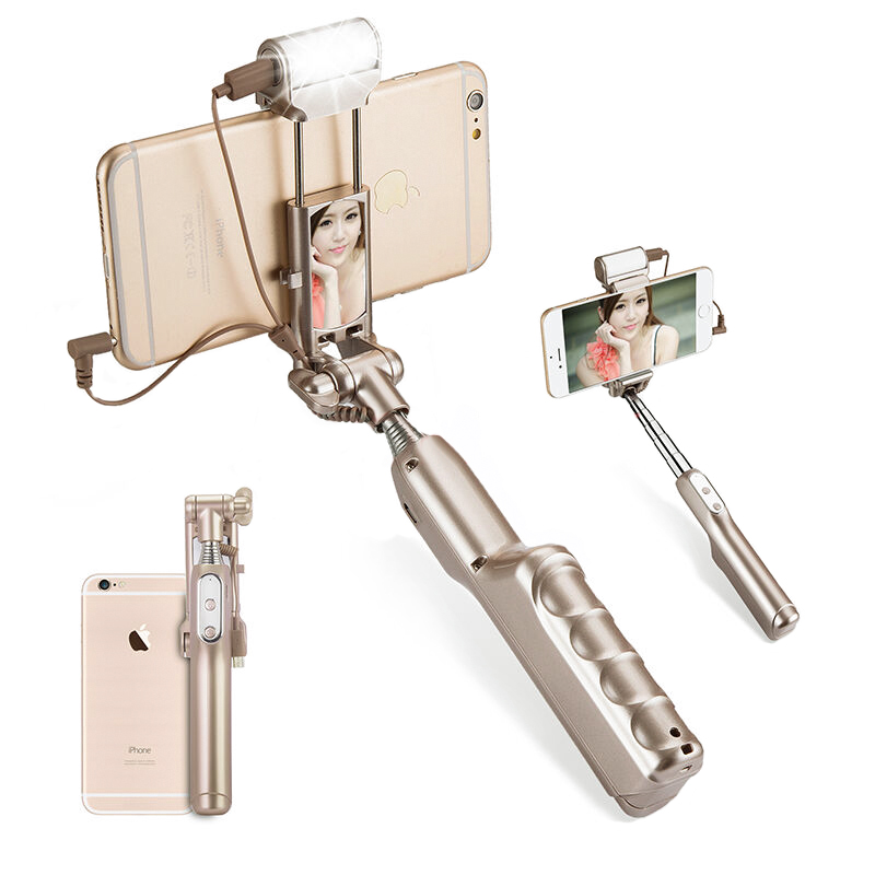Selfie Stick For Android + iOS (Gold)