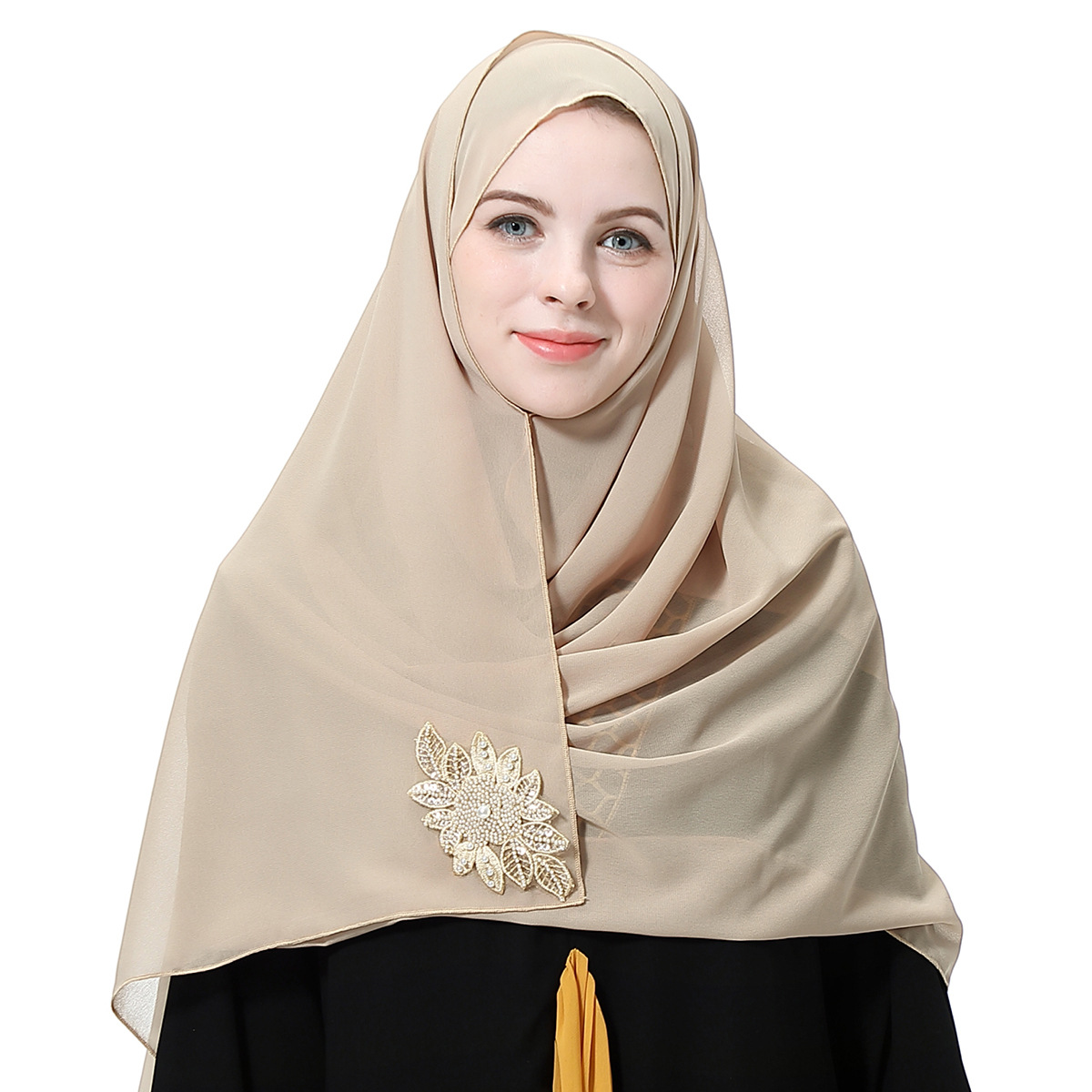 Women Breathable Chiffon Moslem Head Cover Cloth