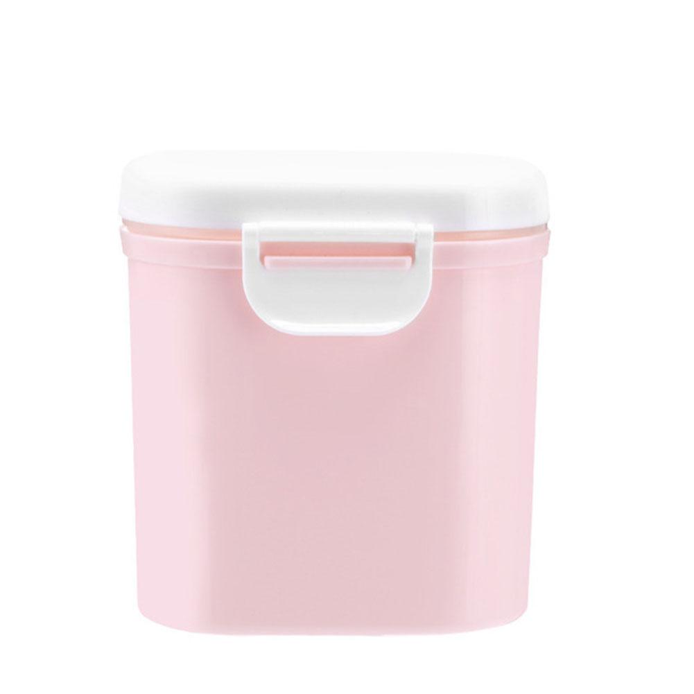 Large Capacity Baby Milk Powder Can Airtight Storage Box Barrel L-pink
