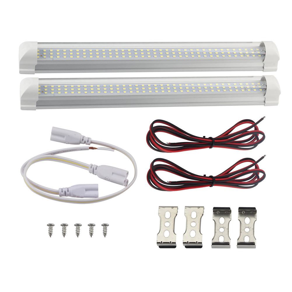 2Pcs  DC12V 6W 108LEDs Interior Lighting Lamp Night Light for Car Bedroom Kitchen Cabinet