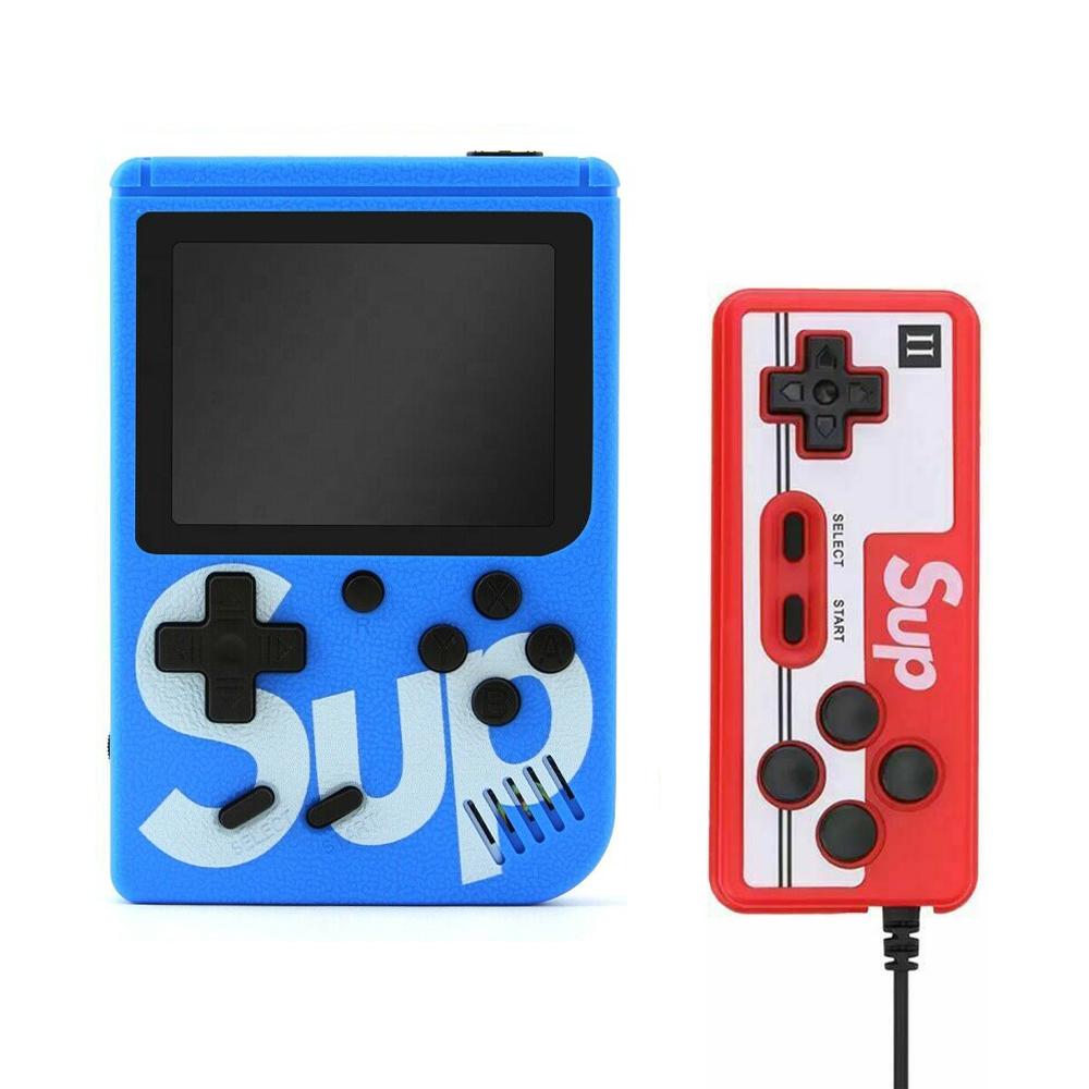 Handheld Game Console Portable Gameboy Box Arcade Classic Video Game Handle Retro Design Blue