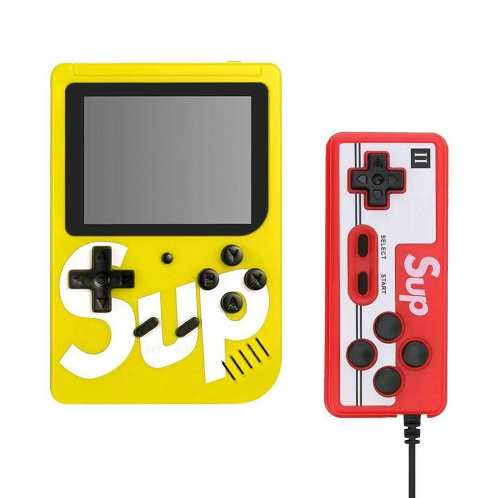 Handheld Game Console Portable Gameboy Box Arcade Classic Video Game Handle Retro Design Yellow