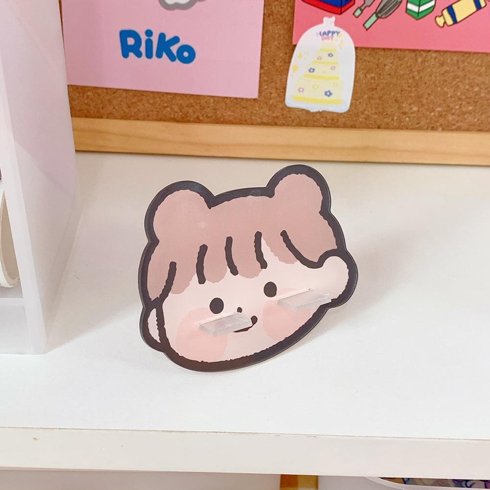 Mobile Phone Holder Cute mini Cartoon Phone Accessories Stand Desk Tablet Stand Desktop 6#Soft cute girl