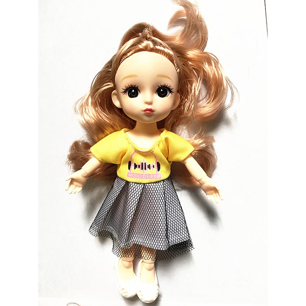 Children  Simulation  Dolls  Toys Fabric 6 Inch 17cm 13 Joint Doll Scene Dolls Girl Toy 4