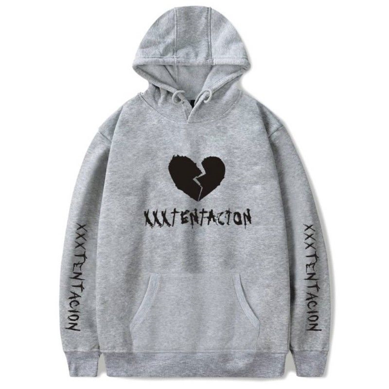 Men/Women Heartbreak Hoodie Fashionable Warm Fleeced Hooded Pullover Top gray_L
