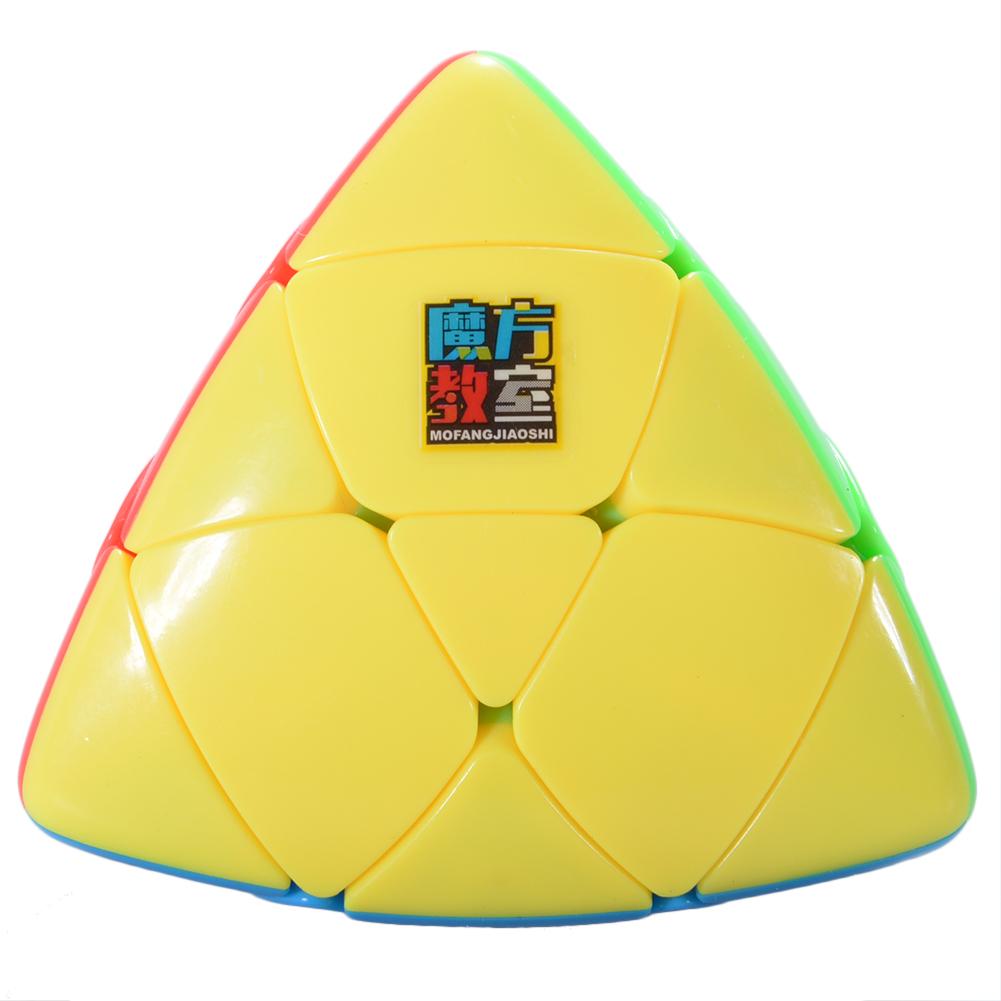 3x3 Pyramorphix Magic Cube Stickerless Brain Teaser Skewb Cube Puzzle Toy for Magic Cubes Beginners
