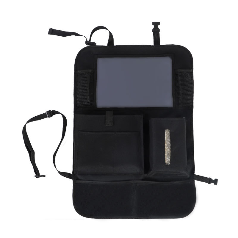 Car Backseat Organizer with Touch Screen Tablet Holder Storage Pockets Car Seat Back Protectors black_65 * 45cm