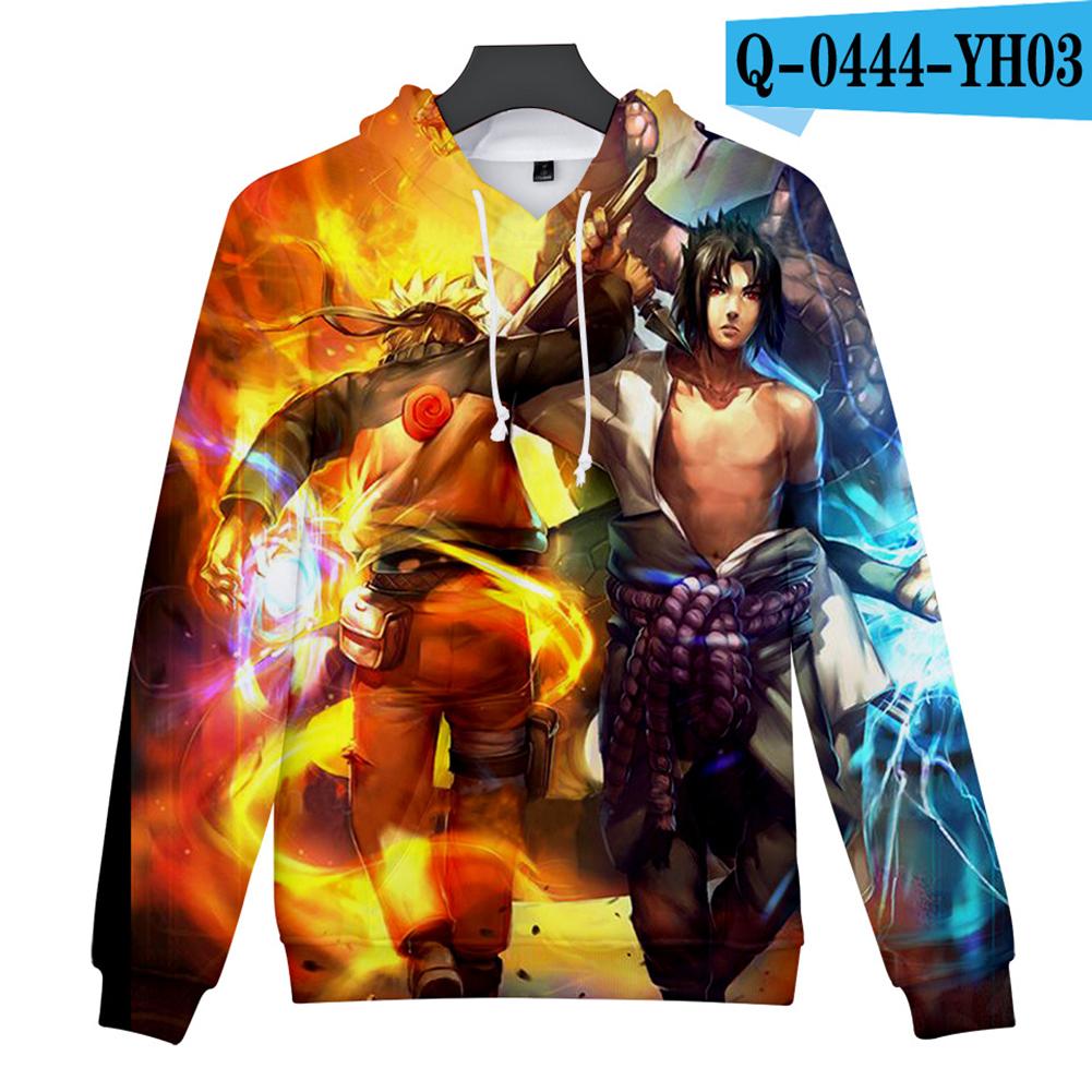Men Women 3D Naruto Series Digital Printing Loose Hooded Sweatshirt Q-0444-YH03 C_M