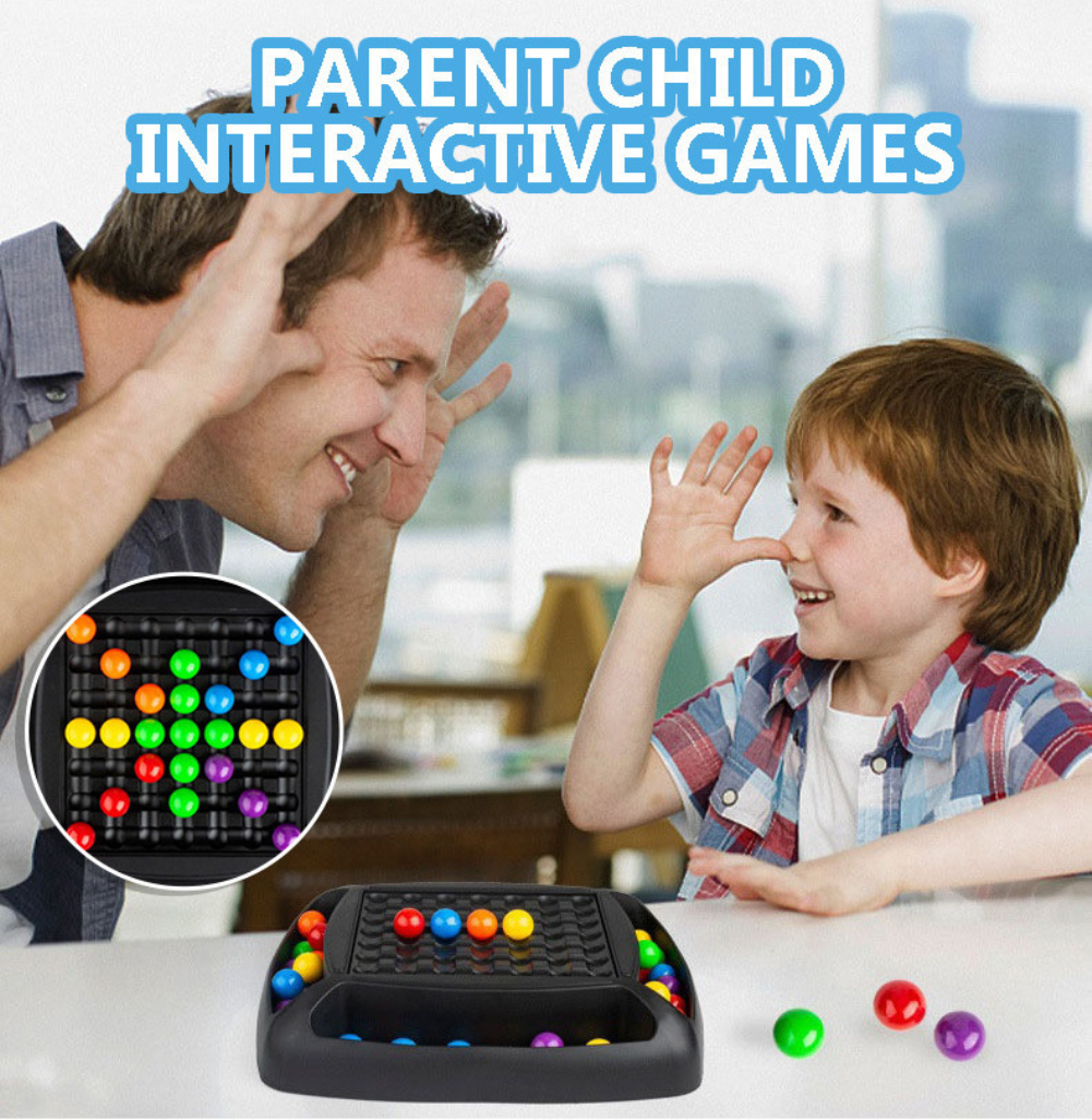 Colorful  Ball  Elimination  Game Colorful Puzzle Magic Chess Educational Toy Set As shown